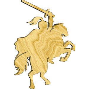 Knight on Horseback with Raised Sword Embellishment