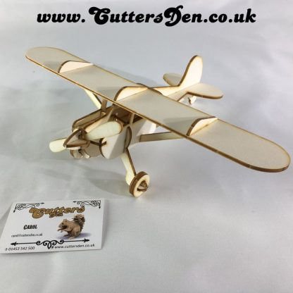Cessna 140 Laser Cut Wooden 3D Kit (Laserply)