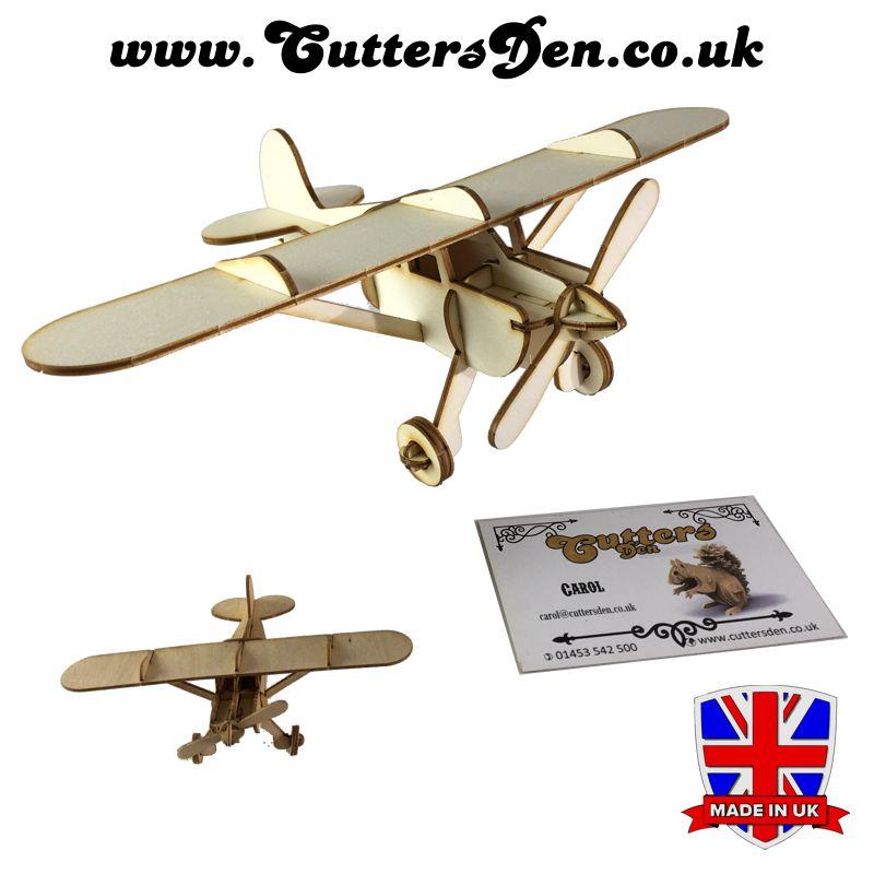 Cessna 140 Laser Cut Wooden 3D Kit (Laserply)