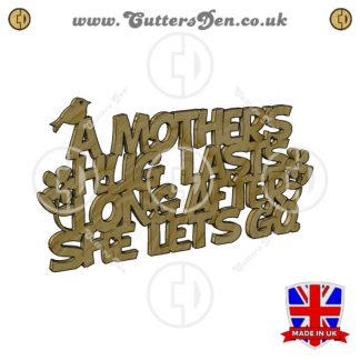 A Mothers Hug Word Art