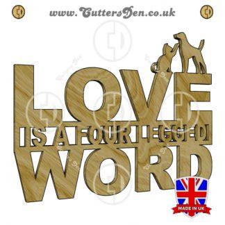 Four Legged Love Word Art Craft Kit