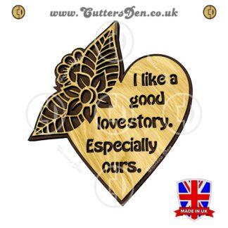 Love Story Plaque