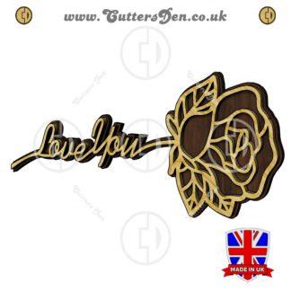 Love You Rose Wall Art Craft Kit