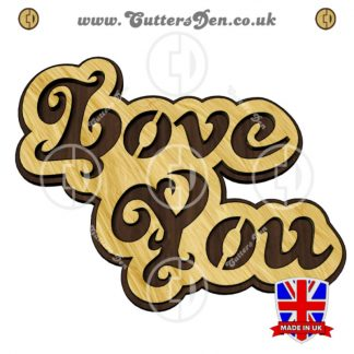 Love You Word Art Cloud Craft Kit