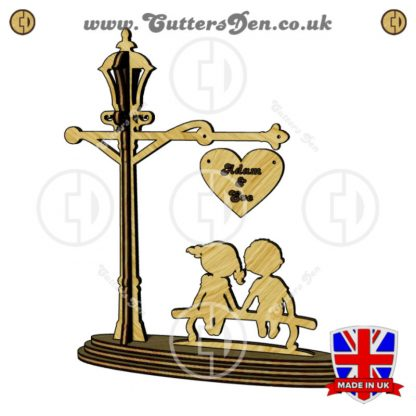 Lovers Bench Street Lamp Stand Craft Kit