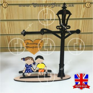 Lovers Bench Street Lamp Stand Photo