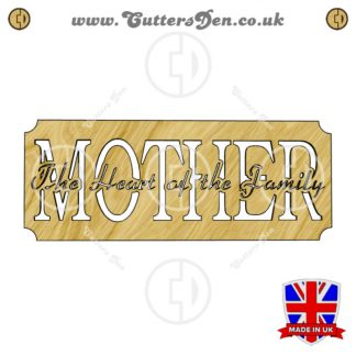 Mothers Heart Word Art Sign