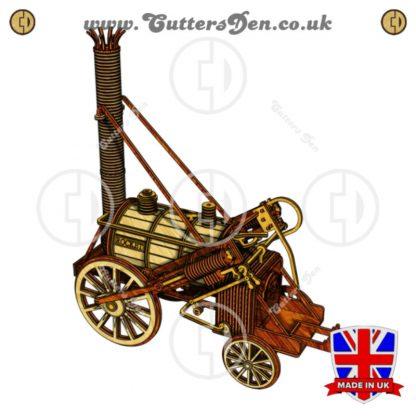 Stephenson's Rocket Locomotive 3D Kit Stained Back