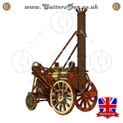 Stephenson's Rocket Locomotive 3D Kit Stained Front