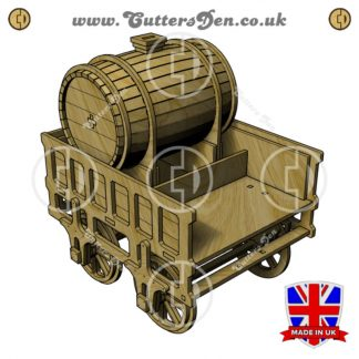 Stephenson's Rocket Tender 3D Kit Front