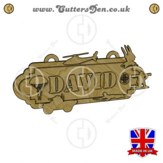 Army Theme Personalised Sign Kit Render