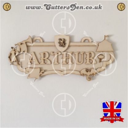 Medieval Theme Personalised Sign Kit Photo