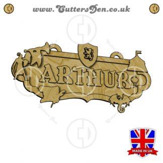 Medieval Theme Personalised Sign Kit Render