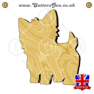 Yorkie Wooden Embellishment
