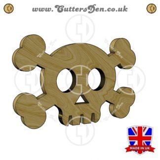 Cute Skull and Crossbones Embellishment