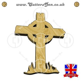 Ruined Celtic Grave Cross Embellishment