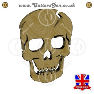 Cracked Human Skull Embellishment