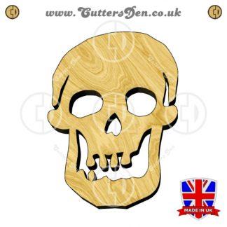 Toothy Human Skull Embellishment