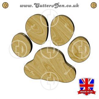 Bulldog Paw Print Embellishment