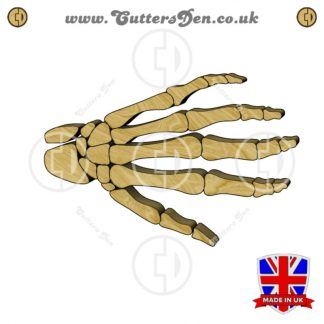 Human Skeleton Hand Embellishment