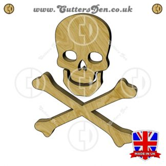 Skull and Crossbones Three Piece Embellishment