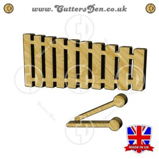 Xylophone and Mallets Embellishment